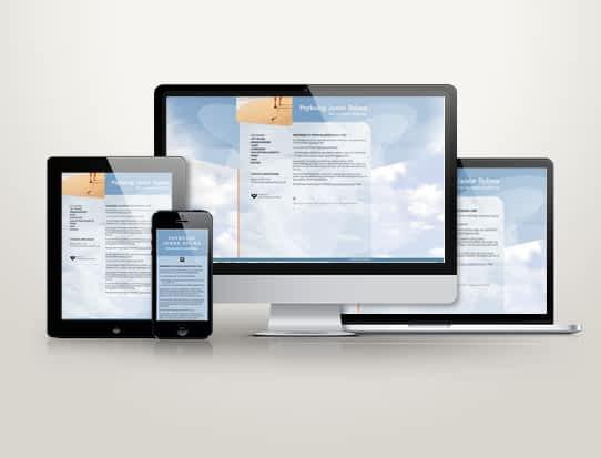 Hjemmeside designet til psykolog Janne Dolma