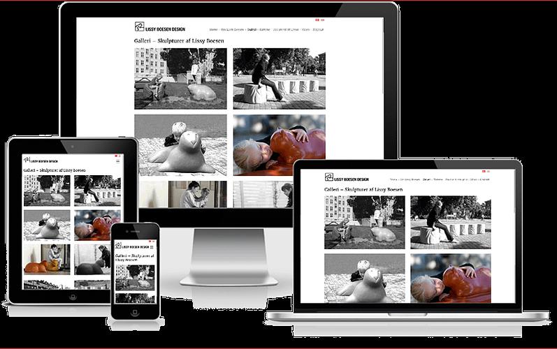 hjemmeside Designer Lissy Boesen wordpress design
