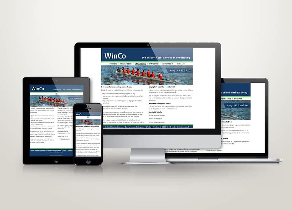 Ny hjemmeside til marketingschef Stefan Winding-Lauesen - WinCo