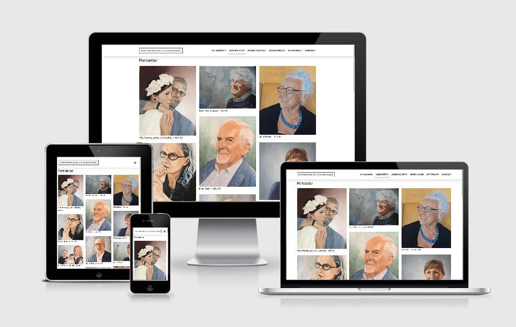Design af hjemmeside til kunstner Lis Kjærgaard - WordPress