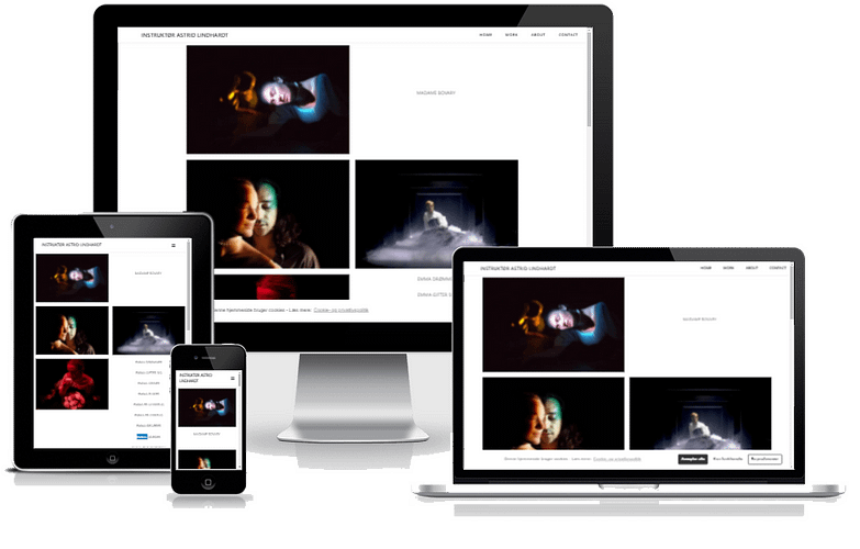 teaterinstruktør Astrid Lindhardt Hjemmeside Design WordPress