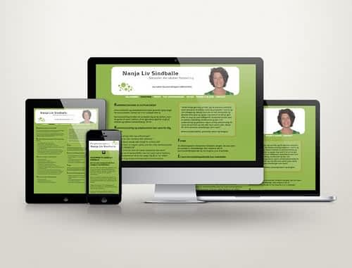 Hjemmeside designet i WordPress til psykoterapeut