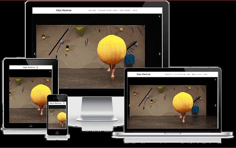 Hjemmeside til Scenograf Gøje Rostrup - designet i WordPress