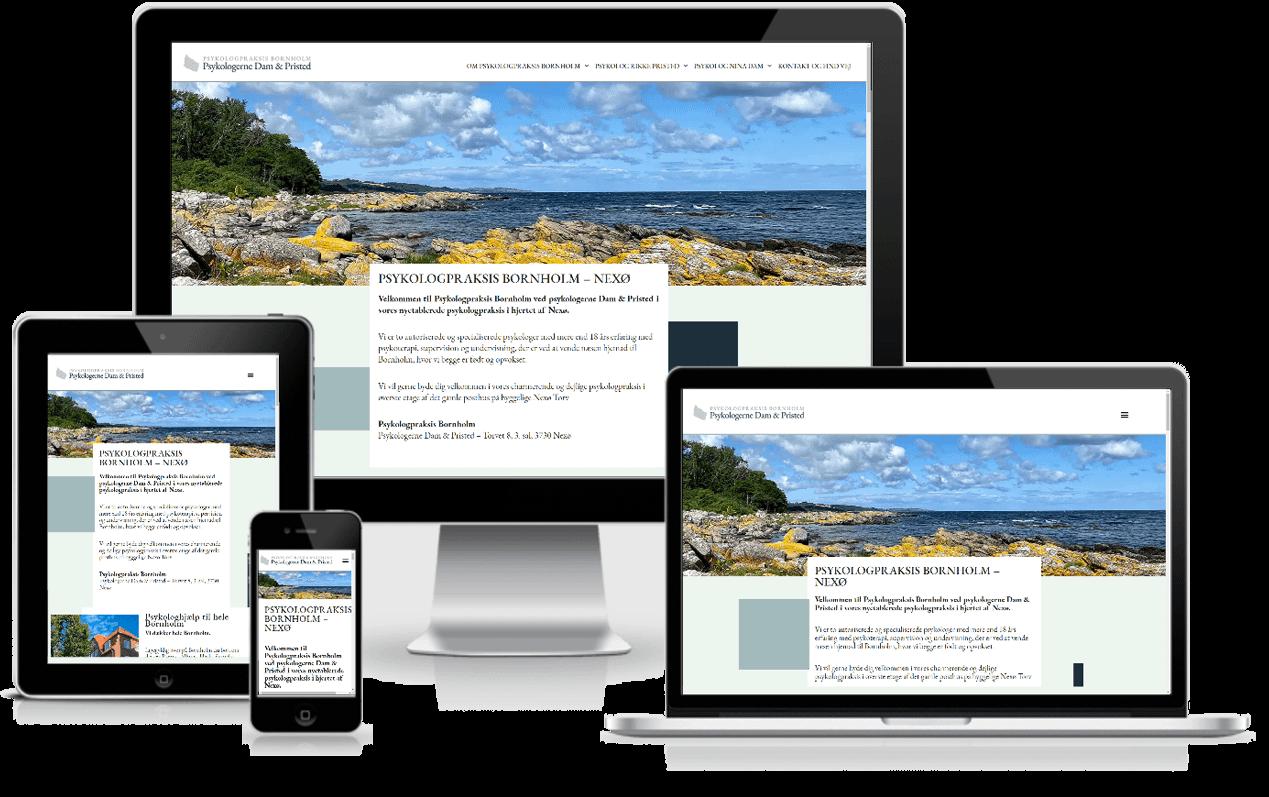 Hjemmeside til psykolog Praksis Bornholm - WordPress