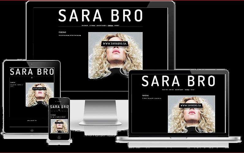 Hjemmeside designet til Sara Bro