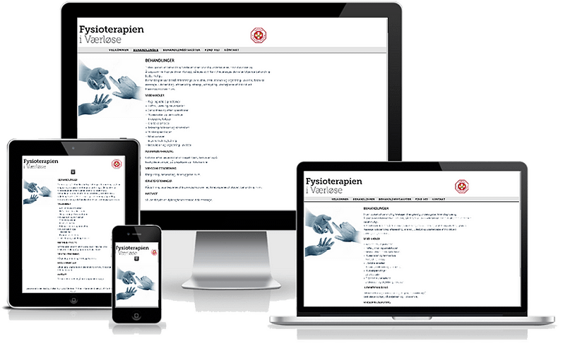 Hjemmeside til fysioterapeut i Værløse