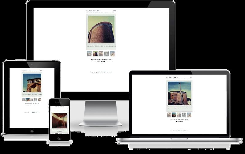 hjemmeside til Polaroid SX70 Fotogalleri - WordPress