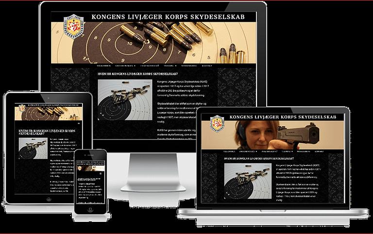 WordPress hjemmeside designet til Skydeklub