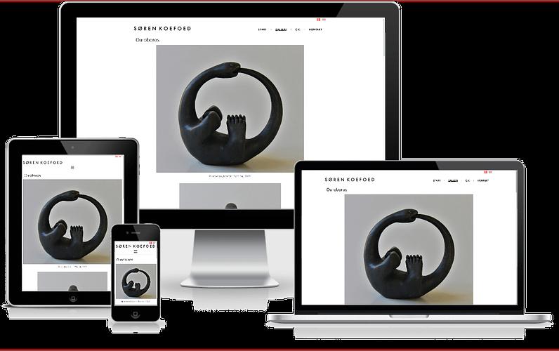 Hjemmeside til billedhugger - WordPress