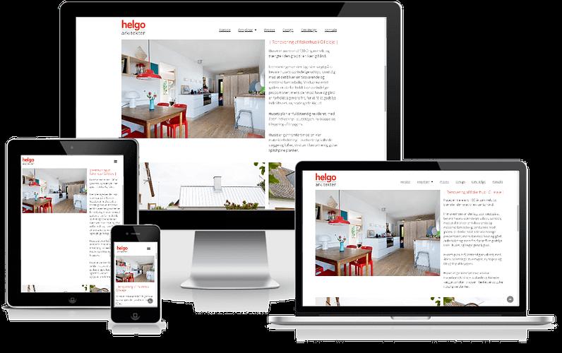 Hjemmeside til Arkitekt - Helgo Arkitekter - Vesterbro, København - WordPress