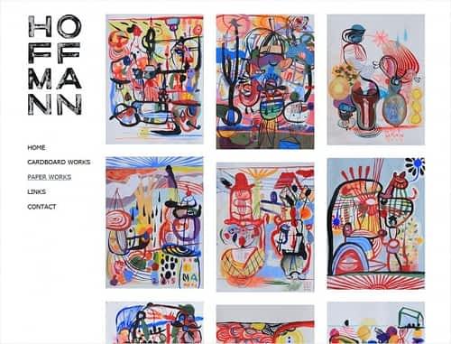 hjemmeside billedkunstner Michala Hoffmann wordpress design