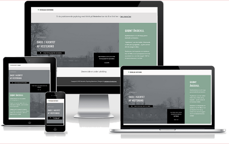 Portal for psykologer på Vesterbro i WordPress