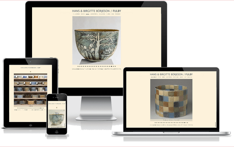 hjemmeside fulby keramik og stentøj wordpress design
