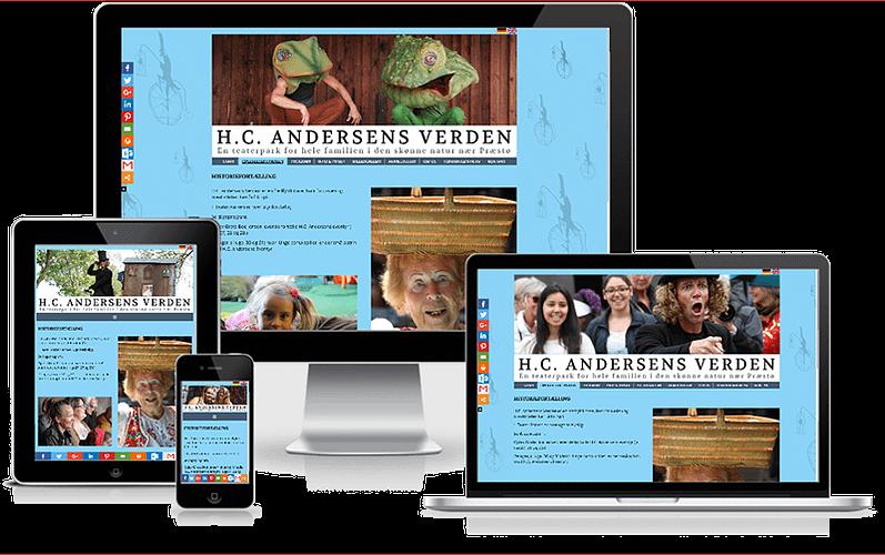 Hjemmeside til teaterparken H.C. Andersens Verden