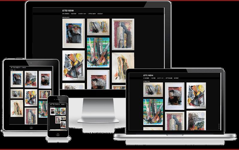 hjemmeside Maler Kunst Jette Fabian WordPress