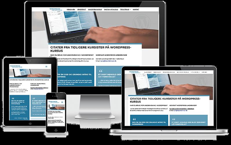 Hjemmeside til WordPress underviser i København