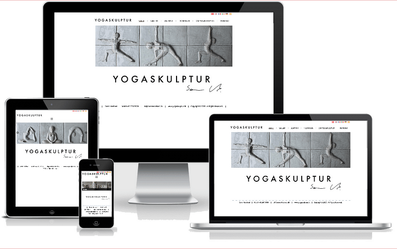 hjemmeside yoga skulptur billedhugger wordpress design