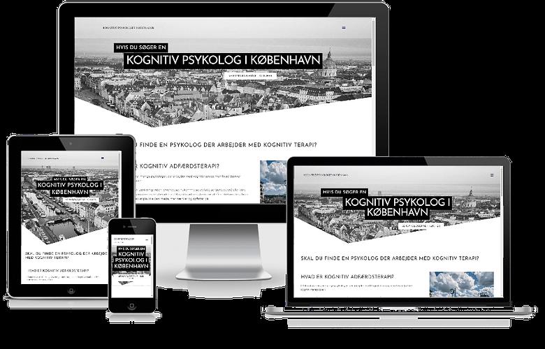WordPress hjemmeside kognitiv psykolog København - design