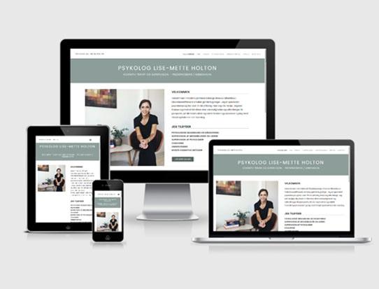 Hjemmeside til psykologer Lise-Mette Holton