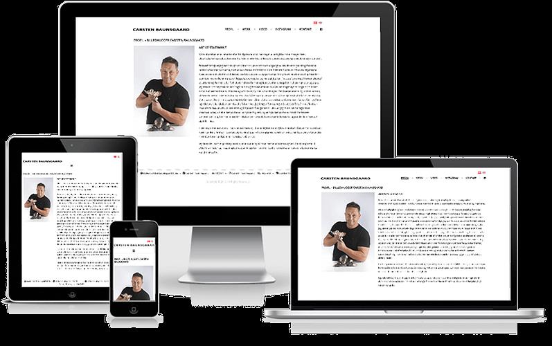 Billedhugger Carsten Baunsgaard hjemmeside design i WordPress