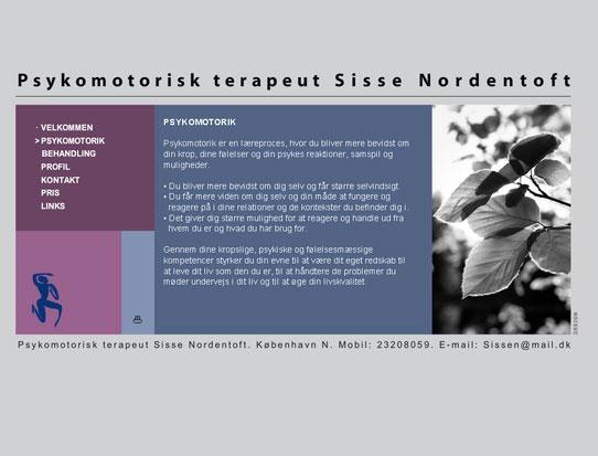 Sisse Nordentoft hjemmeside